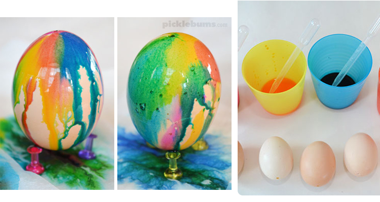 4 Drip-Dyed Eggs
