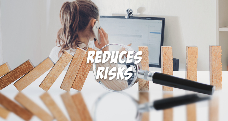 Outsourcing reduces risks