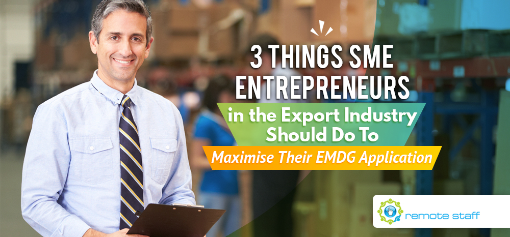 Three Things SME Entrepreneurs in the Export Industry Should Do To Maximise Their EMDG Application
