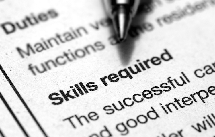 Identify and Outline the Skill Set Required