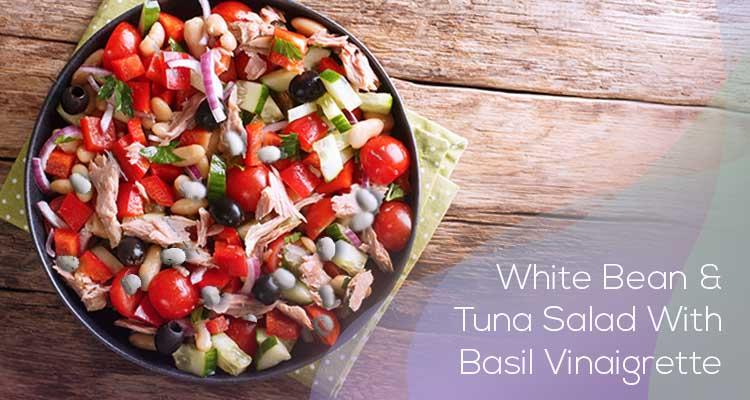White Bean and Tuna Salad With Basil Vinaigrette