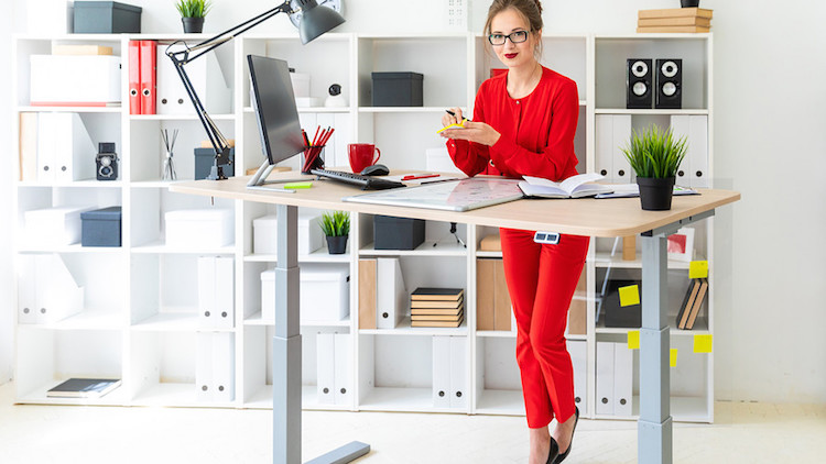 A standing desk can be good too