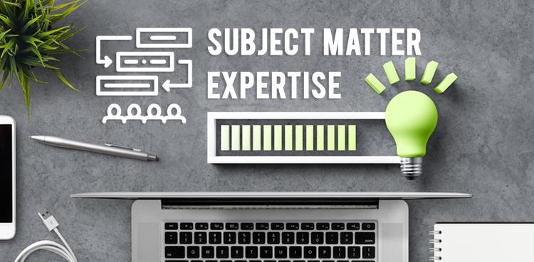 Subject-Matter-Expertise