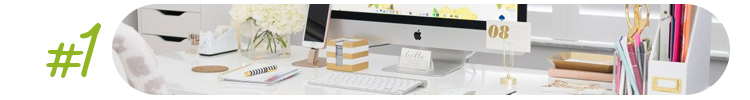 A we;;-organised workdesk