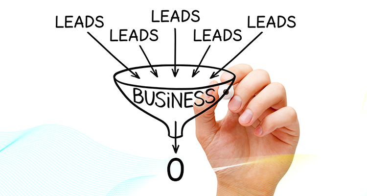 hand drawing business funnel